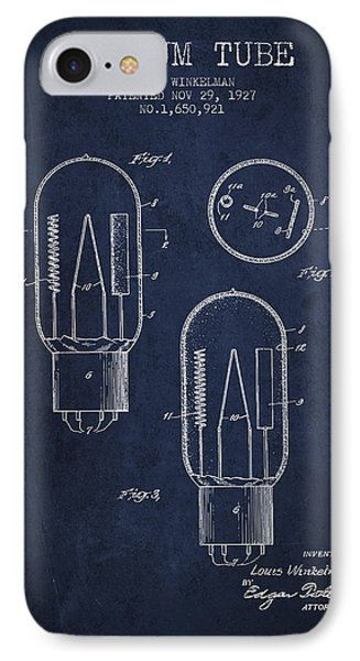 Vacuum Tube Patent From 1927 - Navy Blue IPhone Case
