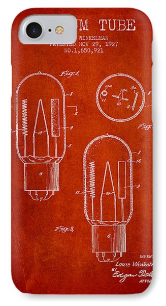 Vacuum Tube Patent From 1927 - Red IPhone Case