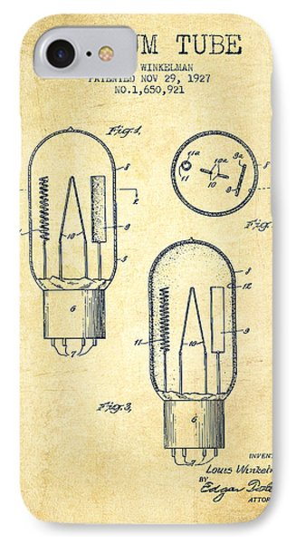 Vacuum Tube Patent From 1927 - Vintage IPhone Case