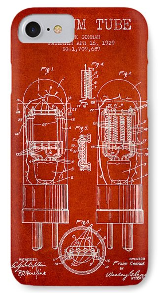 Vacuum Tube Patent From 1929 - Red IPhone Case