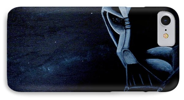 Vader Galaxy IPhone Case by Dan Wagner
