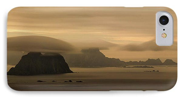 Vaeroy Islands At Cloudy Sunset IPhone Case by Panoramic Images