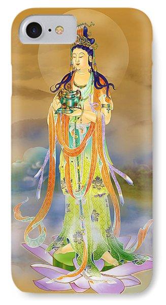 Vaidurya  Kuan Yin IPhone Case by Lanjee Chee