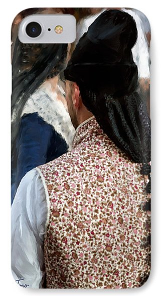 IPhone Case featuring the photograph Valencian Couple In Traditional Dresses. by Juan Carlos Ferro Duque