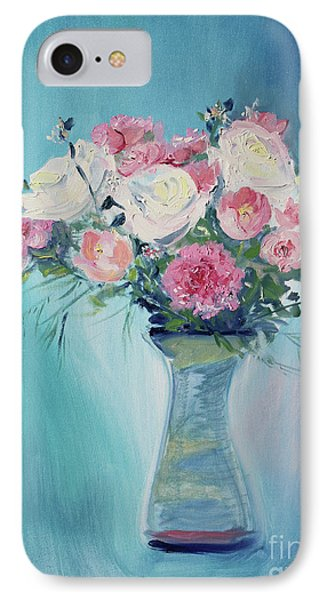 IPhone Case featuring the painting Valentine Bouquet by Asha Carolyn Young