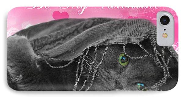 Valentine Cat Phone Case by Joann Vitali