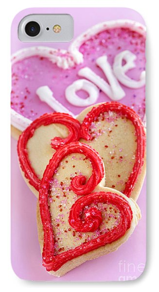Valentine Hearts Phone Case by Elena Elisseeva