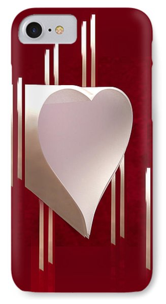 Valentine Paper Heart IPhone 7 Case by Gary Eason