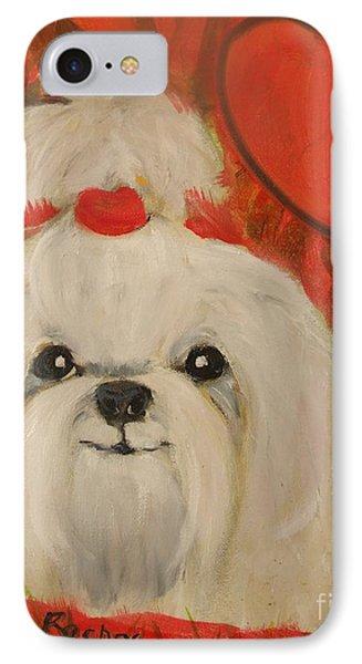Valentine Pup IPhone Case by Rachel Carmichael