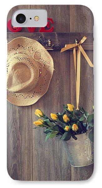 Valentine Roses IPhone Case by Amanda Elwell