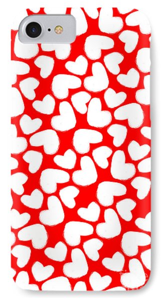 Valentines Day Card IPhone Case by Louisa Knight