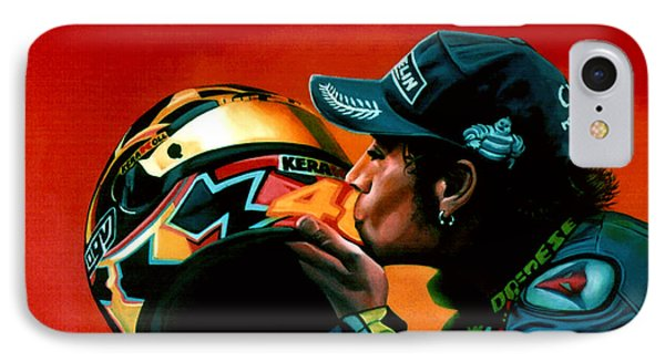 Valentino Rossi Portrait Phone Case by Paul Meijering