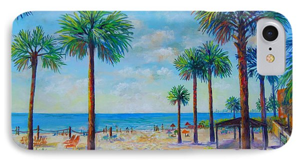Valerie's View Of Siesta Key IPhone Case by Lou Ann Bagnall