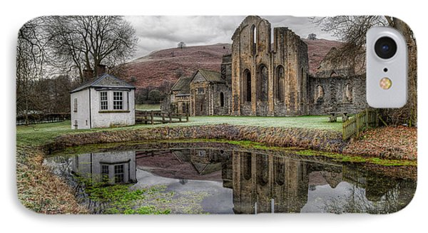Valle Crucis Abbey IPhone Case by Adrian Evans