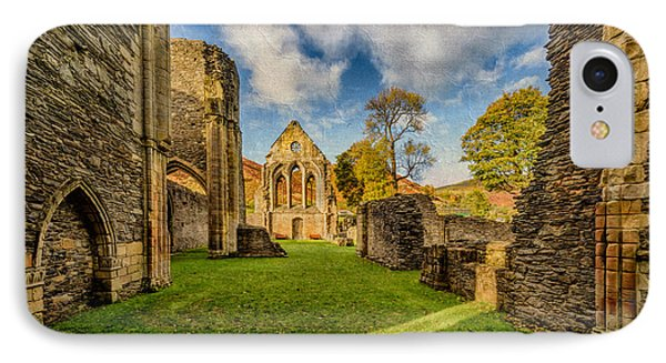 Valle Crucis Abbey Ruins IPhone Case by Adrian Evans