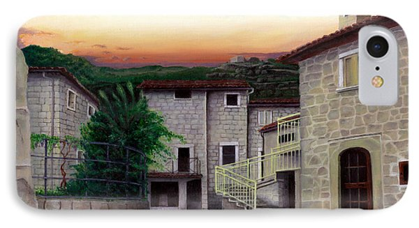 IPhone Case featuring the painting Vallecchia De Monte Calvo by Albert Puskaric