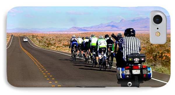 Valley Of Fire Bike Race IPhone Case by Cindy Croal
