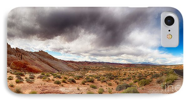 Valley Of Fire With Dramatic Sky Phone Case by Jane Rix