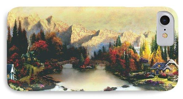 Valley Of Life  Thomas Kinkade Look A Like IPhone Case by Jessie J De La Portillo