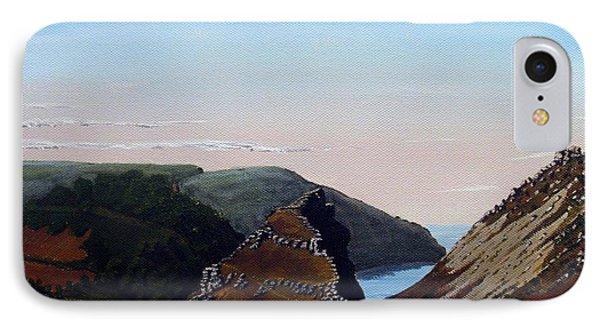 Valley Of Rocks Devon Phone Case by Richard Taylor
