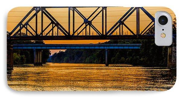 Valley Park Bridges In Technicolor IPhone Case by Robert FERD Frank