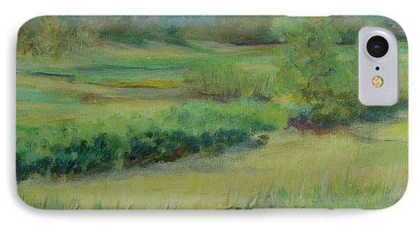 Valley Ranch Rural Western Landscape Painting Oregon Art  IPhone Case