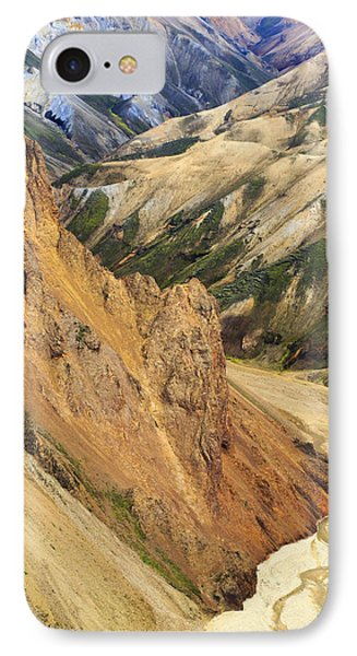 Valley Through Rhyolite Mountains IPhone Case