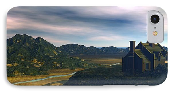 IPhone Case featuring the digital art Valley View by John Pangia