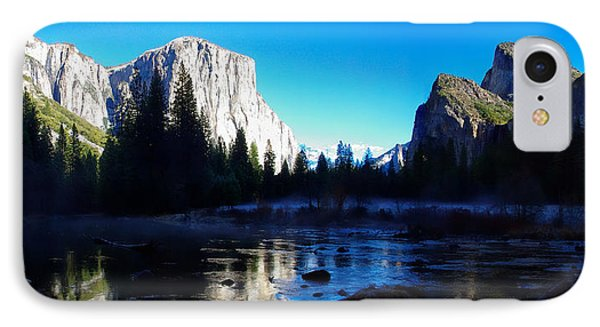 Valley View Yosemite National Park Winterscape IPhone Case