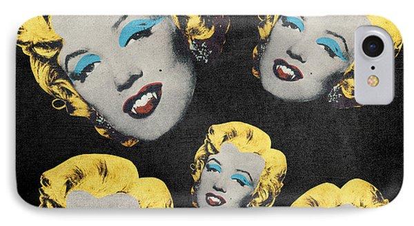 Vampire Marilyn 5 Phone Case by Filippo B