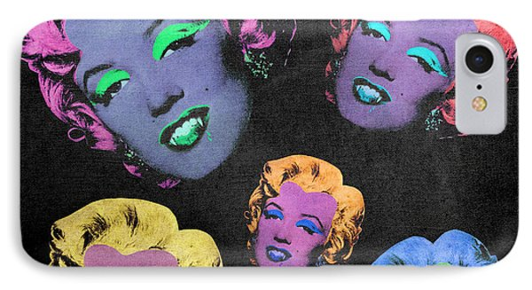 Vampire Marilyn 5b Phone Case by Filippo B