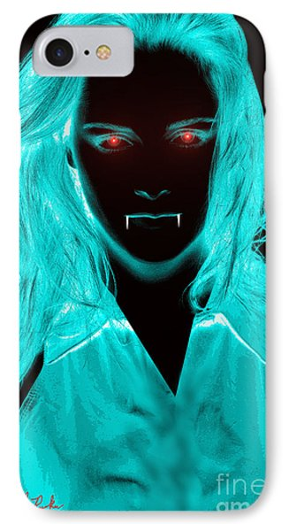 IPhone Case featuring the digital art Vampirette by Michael Rucker