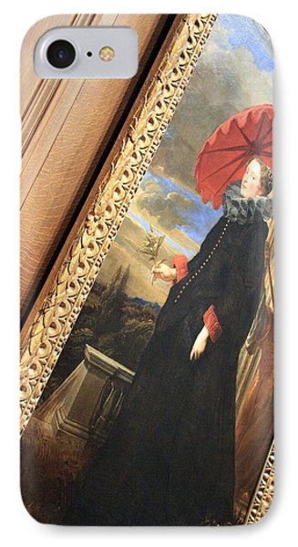 Van Dyck's Marchesa Elena Grimaldi Cattaneo At An Angle IPhone Case by Cora Wandel