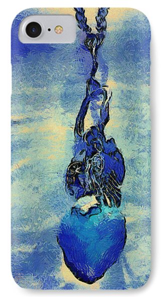 Van Gogh Starry Night Style Heart Phone Case by Lorri Crossno