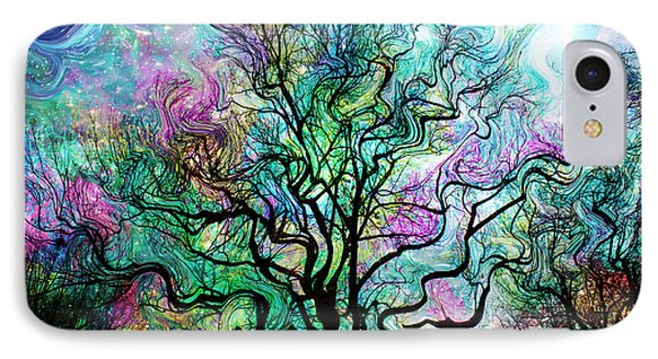 Van Gogh's Aurora Borealis IPhone Case by Barbara Chichester