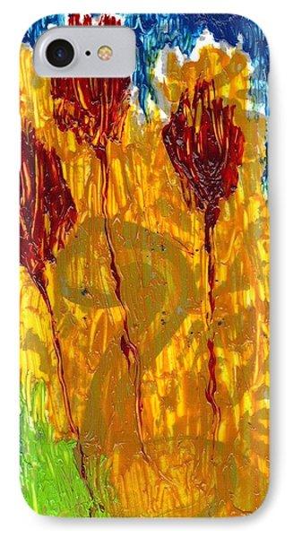 Van Gogh's Garden Of Eden IPhone Case by Lesley Fletcher