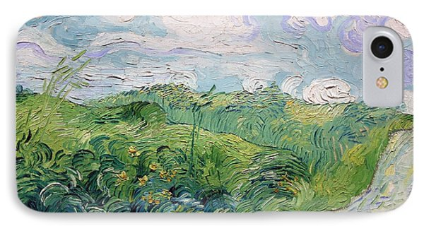 Van Gogh's Green Wheat Fields In Auvers IPhone Case by Cora Wandel