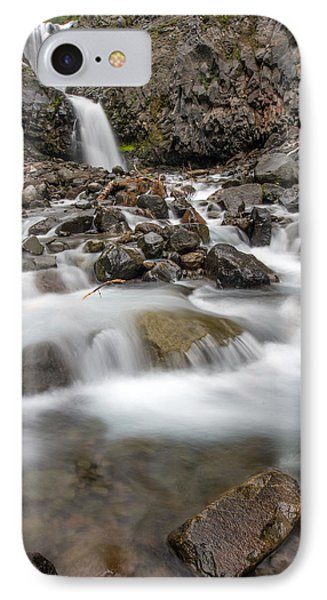 Van Trump Falls In Mount Rainier National Park IPhone Case by Bob Noble Photography