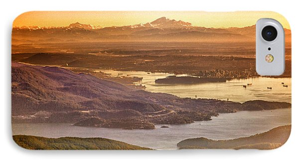 Vancouver And Mt Baker Aerial View IPhone Case by Eti Reid