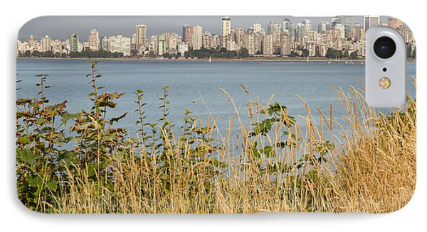 IPhone Case featuring the photograph Vancouver Bc Downtown From Hasting Mills Park by JPLDesigns