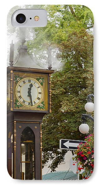 IPhone Case featuring the photograph Vancouver Bc Historic Gastown Steam Clock by JPLDesigns