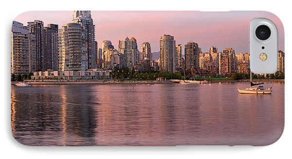 IPhone Case featuring the photograph Vancouver Bc Skyline Along False Creek At Dusk by JPLDesigns