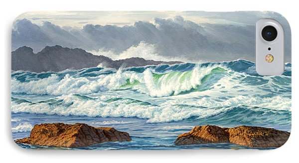 Pacific Ocean iPhone 7 Case - Vancouver Island Surf by Paul Krapf