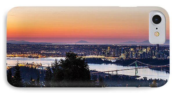 Vancouver Sunrise British Columbia IPhone Case by Pierre Leclerc Photography