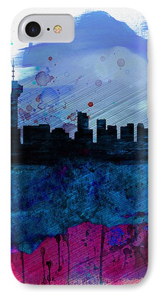 Vancouver Watercolor Skyline IPhone Case