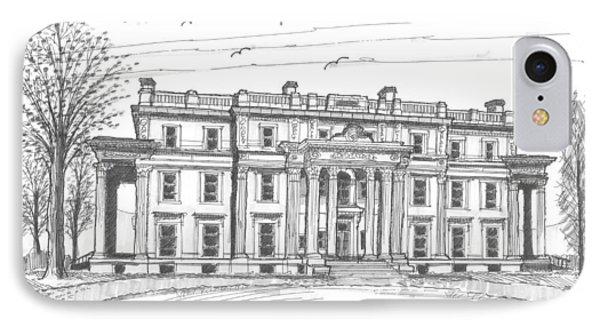 Vanderbilt Mansion IPhone Case by Richard Wambach