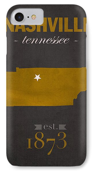 Vanderbilt University Commodores Nashville Tennessee College Town State Map Poster Series No 118 IPhone Case by Design Turnpike