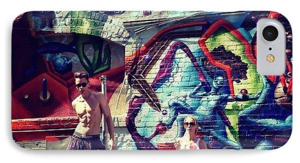 Vanilla Ice Graffiti Venice Beach  Phone Case by Lisa Piper