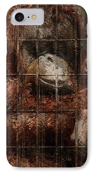 Vanishing Cage Phone Case by Jack Zulli