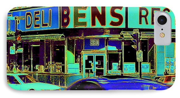 Vanishing Montreal Memories Ben's Historical Restaurant Window So Many Stories To Tell Phone Case by Carole Spandau